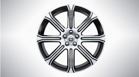 "XC60 20"" 8-Spoke Black Diamond Cut Alloy Wheel"